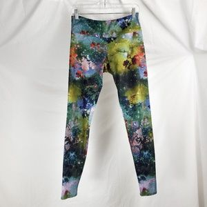Onzie Size M/L Galaxy Floral Leggings Full Length